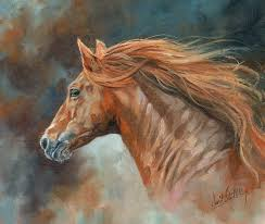 horse painting wild stallion by david stribbling