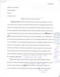 text analysis response english portfolio  file
