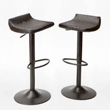 woven wicker patio bar stool 2 pack