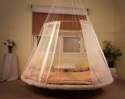 ... Baby bed hanging from a ceiling