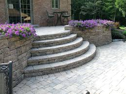how to build steps with retaining wall blocks creative outdoor stairs options using block retaining walls how to build