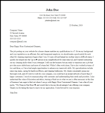 Professional Cleaner Cover Letter Sample Writing Guide Cover