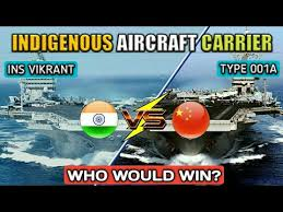 ins china india vs china indigenous aircraft carriers ins vikrant vs type