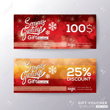 Holiday Gift Certificates Season Greeting Holiday Gift Certificate Voucher Coupon Card