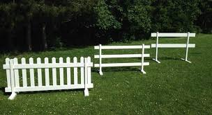 temporary yard fence. From Left To Right: Temporary Picket Fence, 3-rail 2-rail Fence. Yard Fence