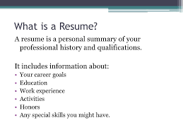 Resumes For High School Students What Is A Resume A Resume Is A