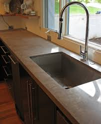 Poured Concrete Kitchen Floor Kitchen Minimalist Kitchen Island With Brown Concrete Countertop