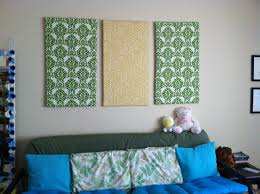 wall art ideas with fabric wall art decor ideas canvas separated panels diy fabric wall