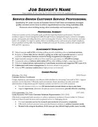 Resume Summary For Resume Examples Customer Service