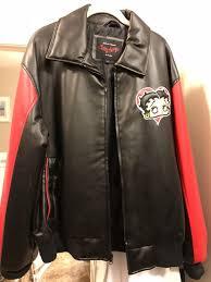 betty boop genuine leather jacket xl