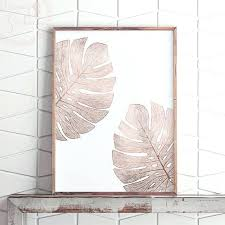 rose gold and navy wall art