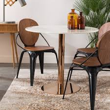 round copper dining table ideas
