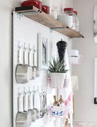 Diy White Kitchen Pegboard Storage Ideas