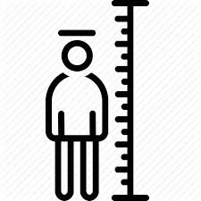 Height Chart Pictures Outline Webi Con 10 Black By Web1 Technology