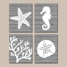 beach bathroom wall art canvas or prints nautical coastal bathroom decor aqua starfish on seahorse wall art for bathroom with shop seahorse wall art on wanelo