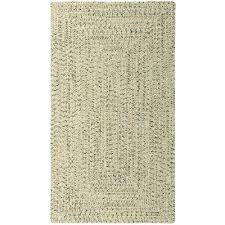 2 x 3 x small shell taupe braided indoor outdoor rug sea glass