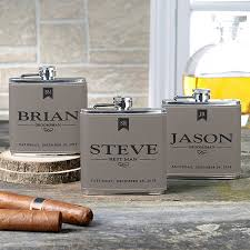 personalized leather flasks for groomsmen 17814