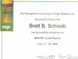 Brett B Schwab Resume