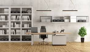 white modern office. Perfect Office Black And White Modern Office With Desk Bookcase  3D Rendering Stock  Photo To White Modern Office N