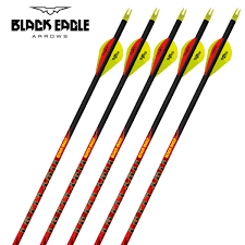 Black Eagle Spine Chart Black Eagle Outlaw Ready Made Feather Fletched Arrow
