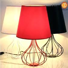 red and black lamps for bedroom modern style iron table lamp light foyer white pebble red and black lamps