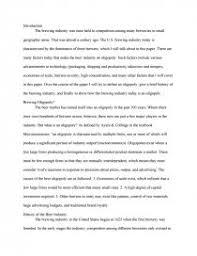 beer industry oligopoly essays zoom