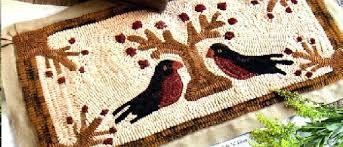 wool rug hooking kits patterns folk n fiber primitive runner