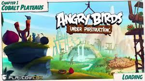 Angry Birds Under Pigstruction - Chapter 1 Cobalt Plateaus Level 1-4 3 Star  Walkthrough Ga – Видео Dailymotion