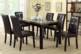 marble top 6 chairs dining table set for seat decor seater and dimensions home