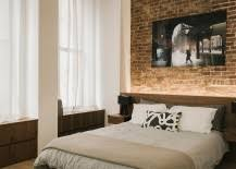 fabulous use of led lighting to highlight the accent brick wall in the bedroom design bedroom accent lighting surrounding