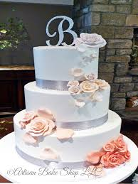 Contemporary Bohemian Modern Wedding Cakes Custom Wedding Cakes
