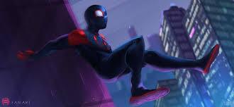 spiderman into the spider verse 2018 fan art hd s 4k