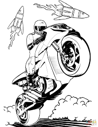 Click the hot wheels motorcycle coloring