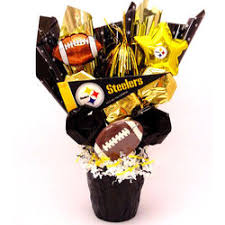 pittsburgh steelers cookie pot bouquet