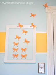 diy erfly wall art for girls bedroom