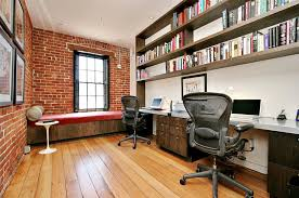 industrial office design ideas. view in gallery exposed brick walls and industrial windows the home office design todd davis architecture ideas