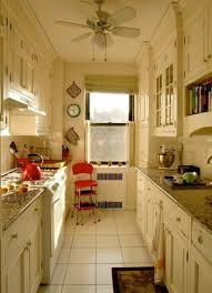 Brilliant Small Galley Kitchens Designs Ceilinghigh Cabinets Topped With Traditional Stacked Crown Molding On Simple Ideas