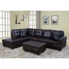 brown leather sectional sofas. Unique Brown Quickview Inside Brown Leather Sectional Sofas Wayfair