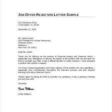 Best Letter Declining Job Offer Letter Format Writing