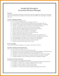 Assistant Manager Job Description For Resume template Template For Job Description Form 71
