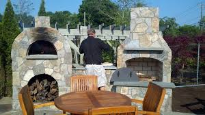 save 36 contractor series outdoor fireplace kit with amerigo oven with wood storage option