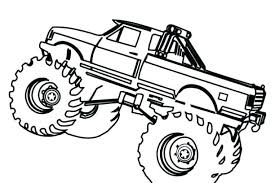 Grave Digger Truck Coloring Pages Monster Trucks Coloring Pages
