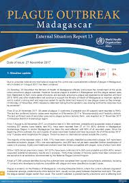 Situation Report Plague outbreak situation reports WHO Regional Office for Africa 1