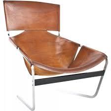 artifort f444 lounge chair in leather pierre paulin 1960s