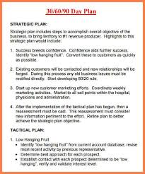 30 60 90 Business Plan 30 60 90 Sales Plan Template Business