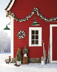handmade outdoor christmas decorations. outdoor house decoration with lamps and wreaths handmade christmas decorations o