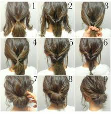 Photo Coiffure Chignon Simple Cheveux Mi Long Coiffure