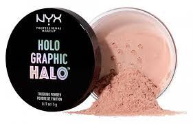 <b>Рассыпчатая пудра Holographic</b> Halo Finishing <b>Powder</b> от NYX ...
