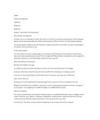 Work Termination Letter Employee Termination Letter Work