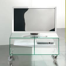 Carrello porta tv lcd in vetro ebox 90 x 40 cm